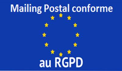 Mailing postal conforme au RGPD