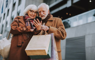 seniors shopping